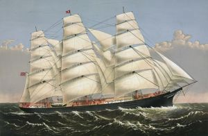 Clipper ship Three Brothers, 2972 tons: The largest sailing