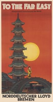 Far East travel poster