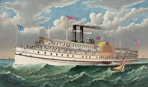 The grand new steamboat Pilgrim: the largest in the world: f