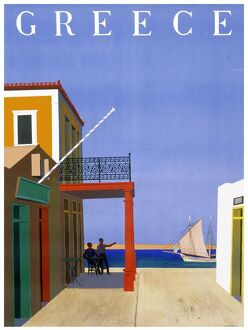 Greece travel poster
