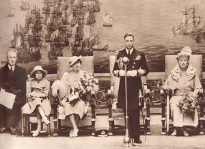 King George VI opening the National Maritime Museum, 1937.