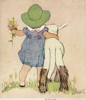 Two Little Lambs by Muriel Dawson