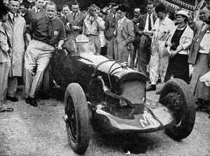 Major A.T. Gardner with his new 1100-cc M.G. car