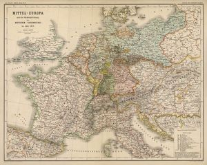 MAP/EUROPE/GERMANY 1871