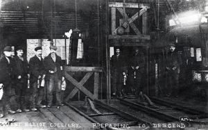 Men at West Pit, Elliot Colliery, New Tredegar, South Wales