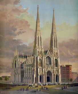 The new cathedral, Fifth avenue, New York