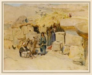 PEASANTS' HOME, THEBES