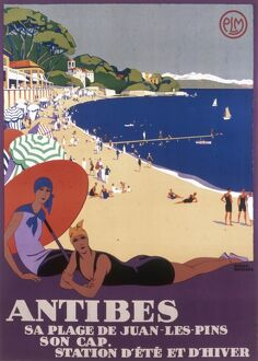 Poster advertising Antibes