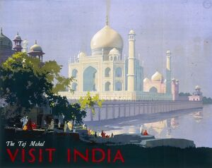 Poster advertising the Taj Mahal, India