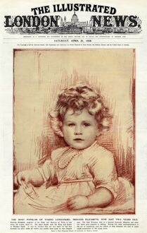 Princess Elizabeth of York on front cover of The Illustrated