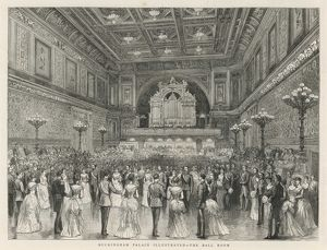 Social event in the Ball Room, Buckingham Palace, London