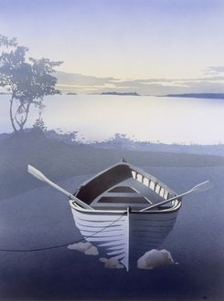 Solitude - Empty Rowing Boat by a Lake