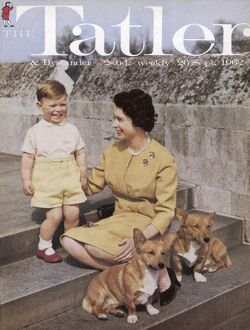 Tatler front cover: Queen Elizabeth II and Prince Andrew