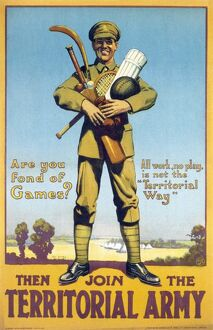 TERRITORIAL ARMY POSTER