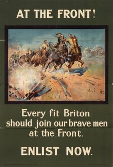 At the Front - World War One recruitment poster