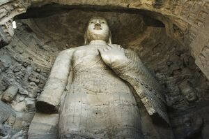 Buddhist statues of Yungang Caves cut during the Northern Wei Dynasty in 460 AD
