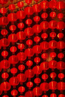 Chinese New Year lights, Macao, China, Asia