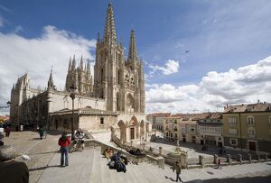 Exterior of the cathedral from the northwest, Burgos, UNESCO World Heritage Site