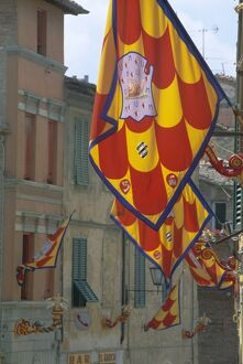 Flags and lamps of the Chiocciola