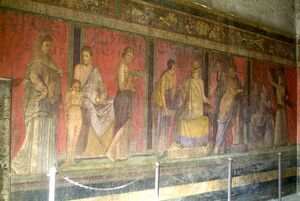 Fresco at the Villa dei Misteri