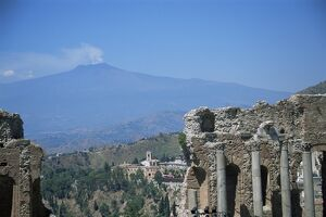 Greek theatre and Mount Etna
