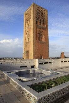 Hassan Tower, Rabat, Morocco, North Africa, Africa