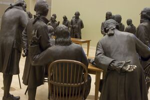 Lifesize bronze statues of the 42 delegates to the Constitutional Convention