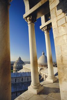 Looking from the Leaning Tower to Cathedral and Baptistery