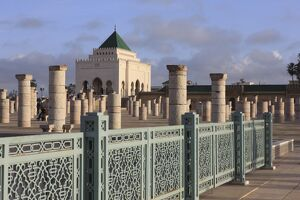 Mausoleum of Mohammed V, Rabat, Morocco, North Africa, Africa