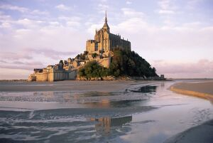 Mont Saint Michel (Mont-St. Michel), UNESCO World Heritage Site, Manche