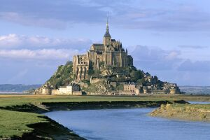 Mont Saint Michel, UNESCO World Heritage Site, Manche, Normandy, France, Europe