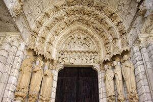 North gate, Chartres cathedral, UNESCO World Heritage Site, Chartres, Eure-et-Loir
