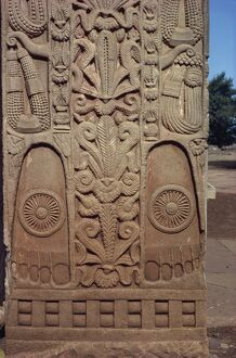 Detail of North Gate of the Great Stupa, Sanchi, UNESCO World Heritage Site