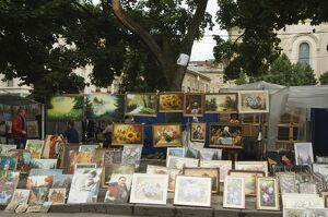 Paintings for sale at Flea Market