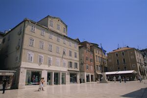People in the square, Narodni trg, Split, Croatia, Europe