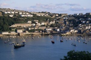 Polruan and River Fowey, Cornwall, England, United Kingdom, Europe