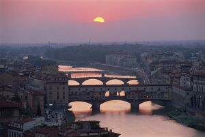 The Ponte Vecchio and other bridges over the River