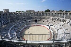 Roman arena, Arles, UNESCO World Heritage Site, Provence, France, Europe