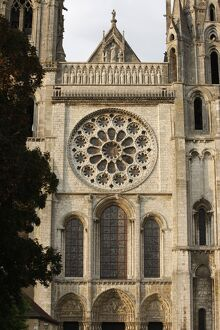 Royal gate, Chartres cathedral, UNESCO World Heritage Site, Chartres, Eure-et-Loir