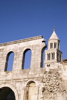Silver gate, Old Town, Split, Dalmatia, Croatia, Europe