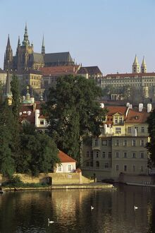St. Vitus cathedral and castle, Prague, Czech Republic, Europe