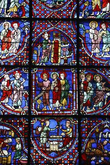 Stained glass, Notre-Dame de Chartres Cathedral, UNESCO World Heritage Site