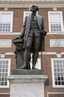 Statue of Washington, Independence Hall, Philadelphia, Pennsylvania, United States of America