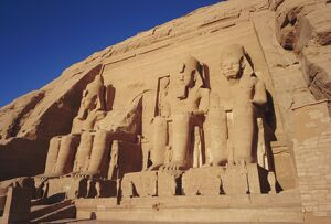 Temple of Re-Herakhte for Ramses II, was moved when Aswan High Dam was built