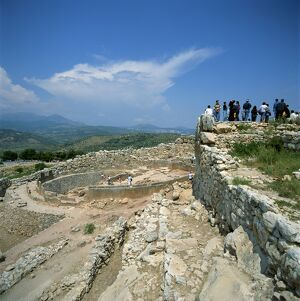Tourists at the ruins of Mycenae
