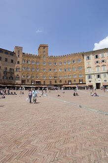 View of the Piazza del Campo