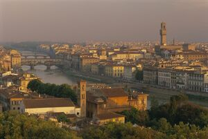 View over the River Arno and city skyline