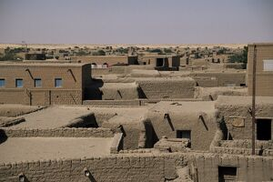 View over rooftops, Timbuctoo, Mali, Africa