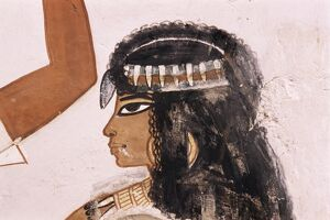 Wall painting of a girl, Tomb of Menna, 18th dynasty, Sheikh Abd el-Kurna