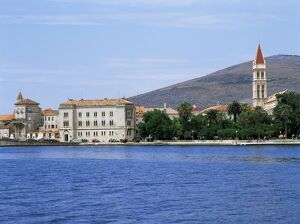 Waterfront with St. Lawrence's cathedral, Trogir, Central Dalmatia region